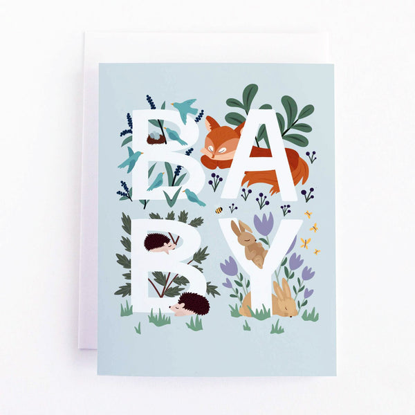 Wildlife Animal Baby Card