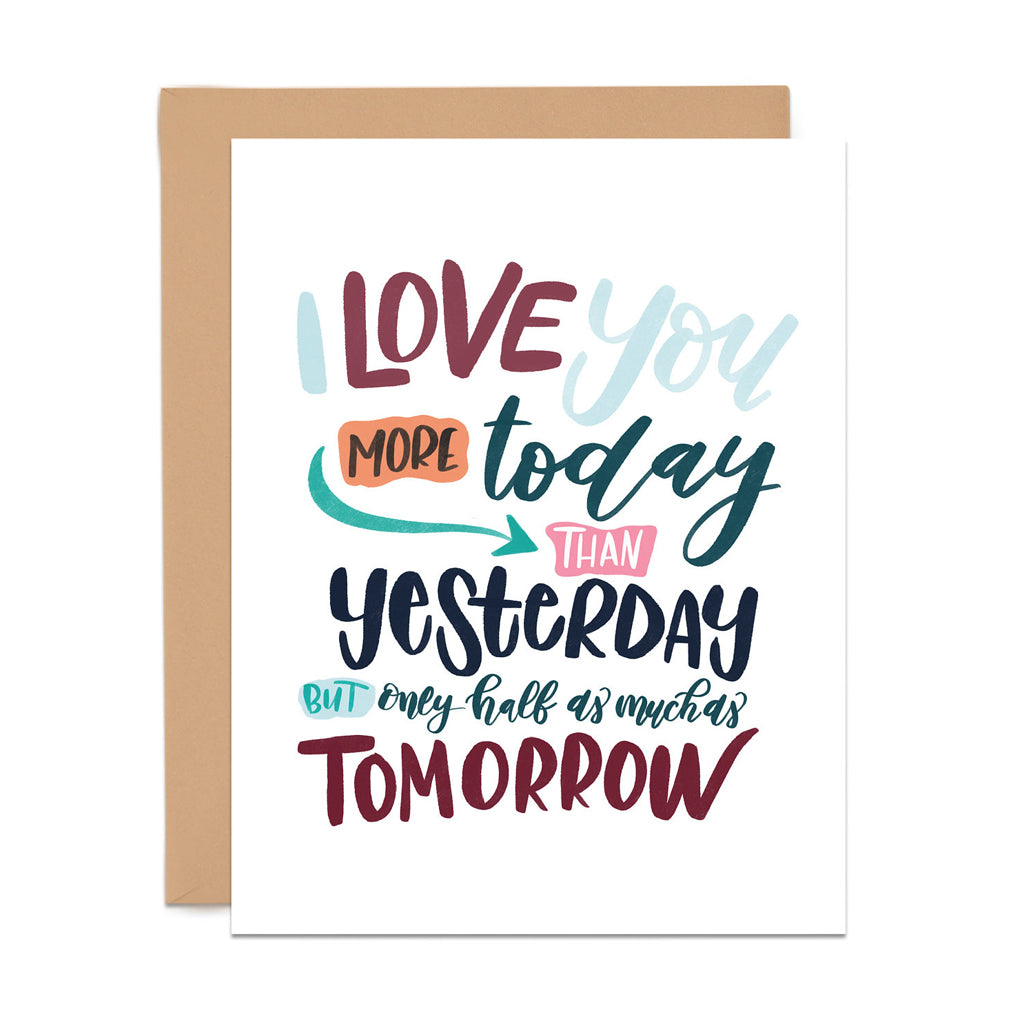 More Than Yesterday Card