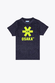Deshi Tee Yellow Star - Navy Melange