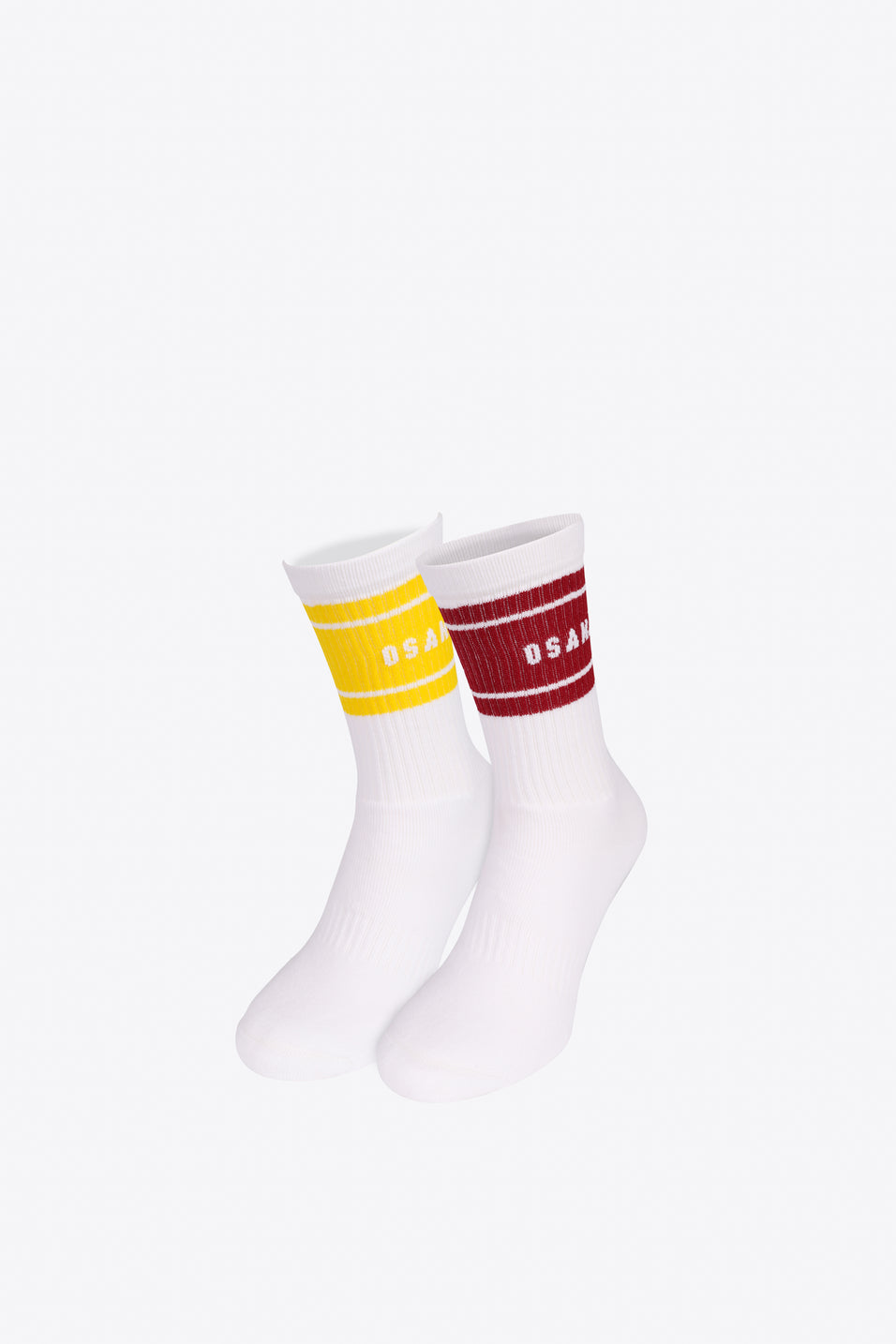 Colourway Socks Duo Pack - Maroon / Yellow