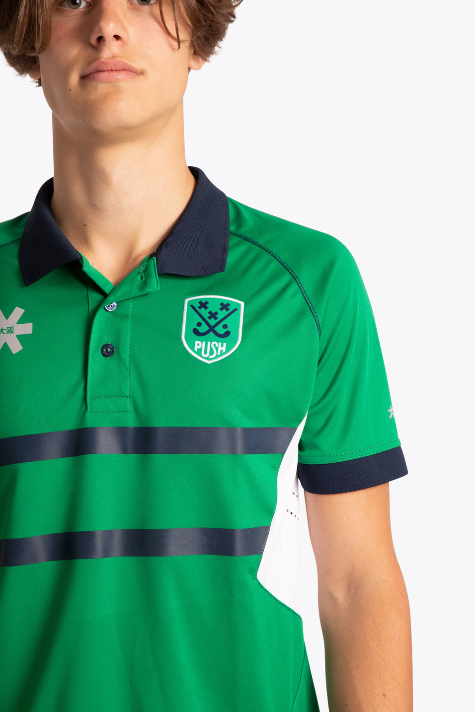 BHV Push Men Polo Jersey - Green / White