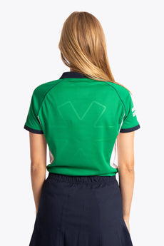 BHV Push Women Polo Jersey - Green / White