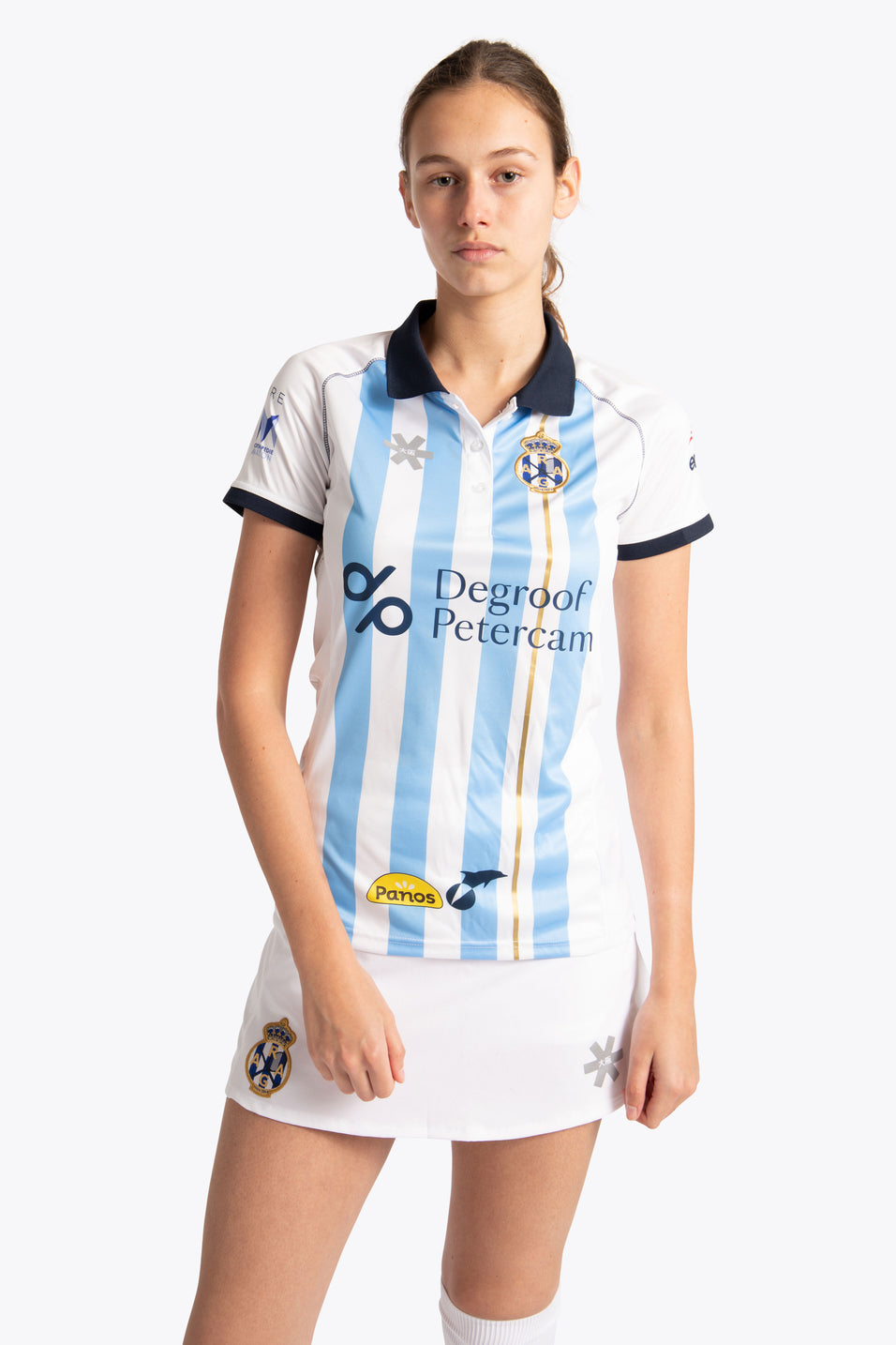 Gantoise Women Polo Jersey - Blue / White