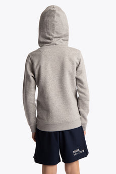 Deshi Hoodie Green Star - Heather Grey
