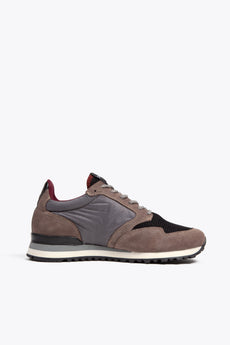 Men Retro Runner - Grey/Burgundy