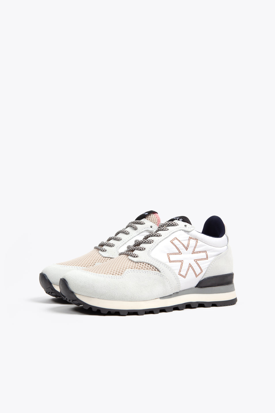 Women Retro Runner - Off White/Pink