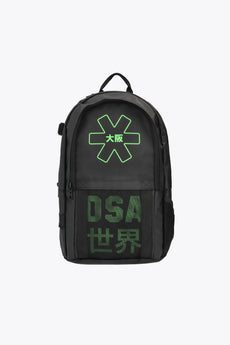 iconic black and green osaka hockey backpack