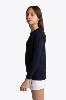 Deshi Sweater Green Star - Navy Melange