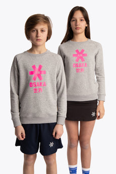 Deshi Sweater Pink Star - Heather Grey