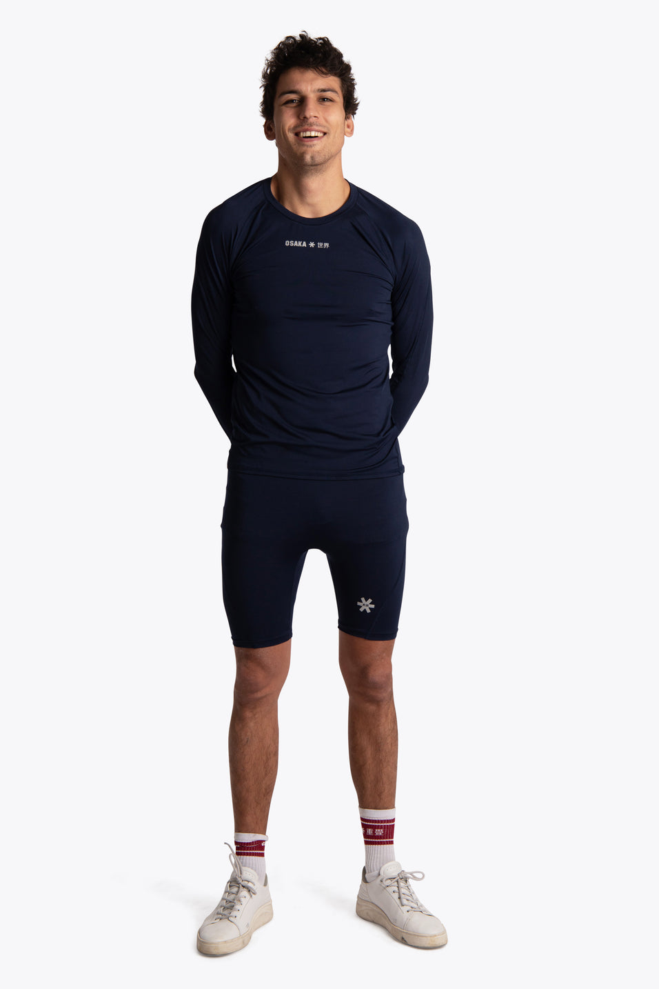 Men Baselayer Top - Navy