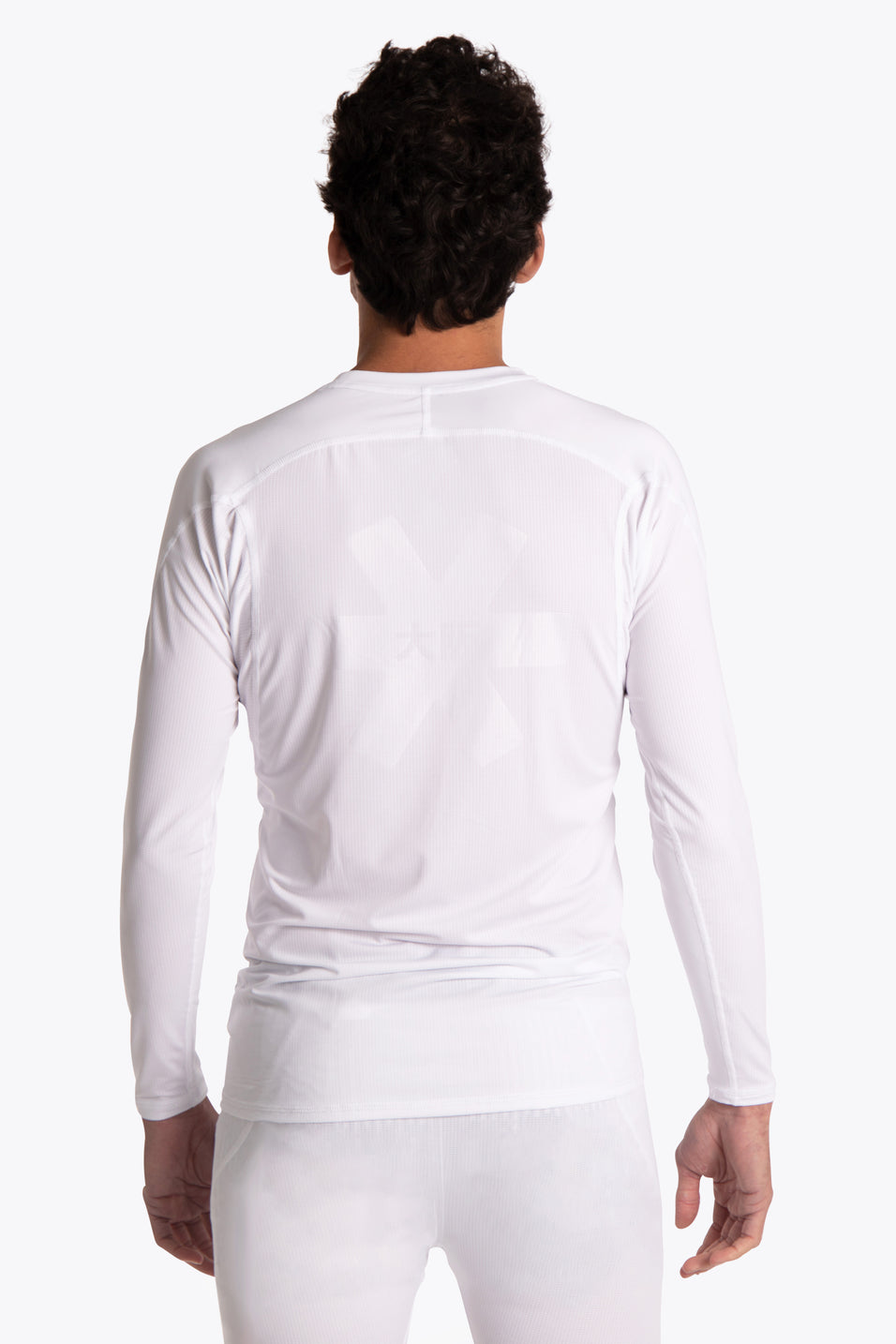 Men Baselayer Top - White