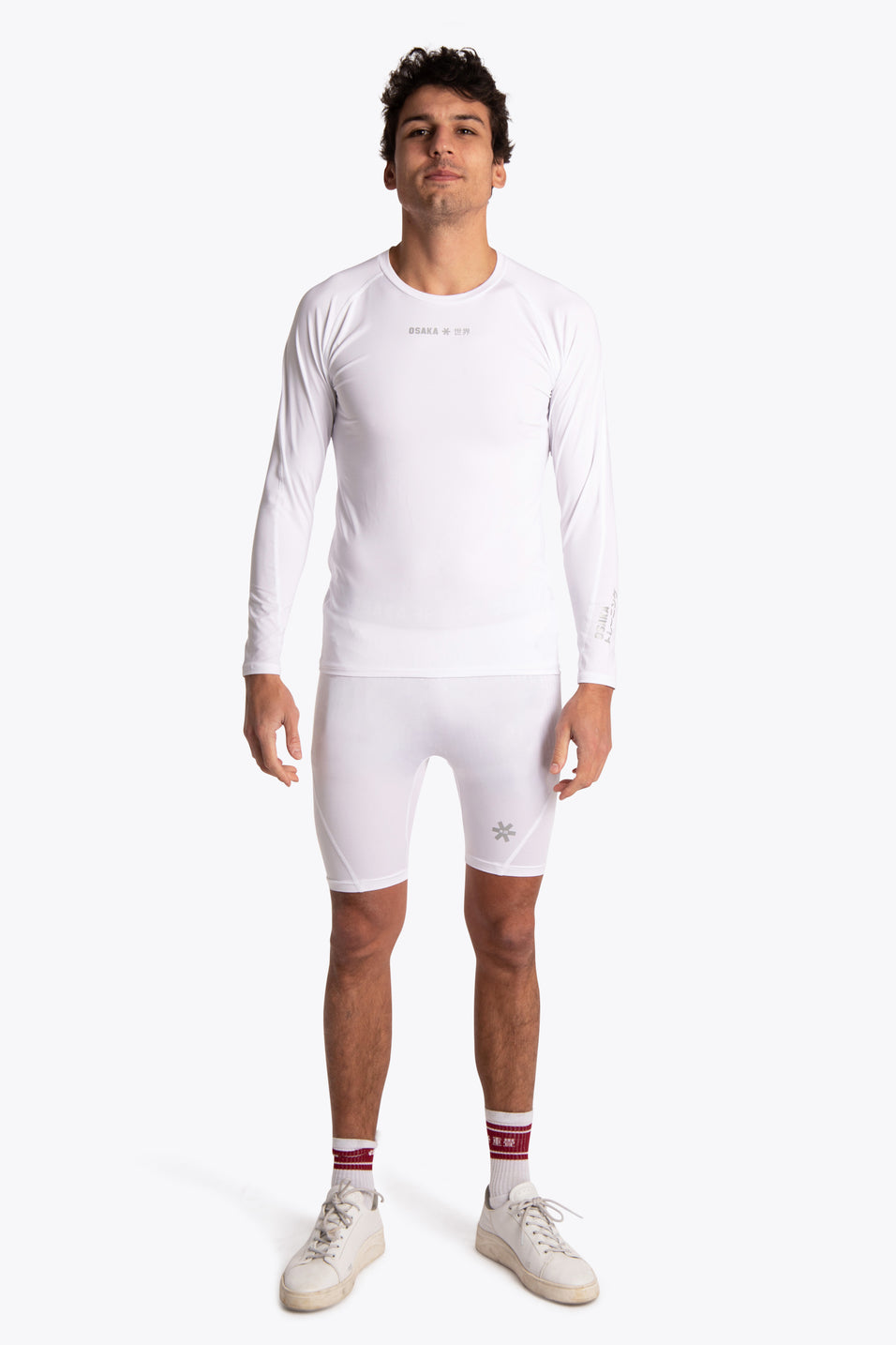 Men sportswear base layers white