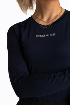Osakaworld women baselayer top navy