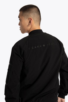 Osaka Men Bomber Jacket - Jet Black