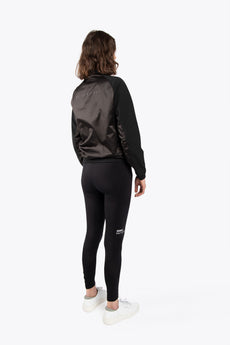 Women Bomber Jacket - Jet Black