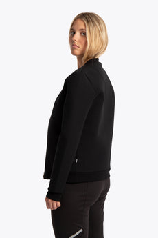 Women Neoprene Bomber - Black