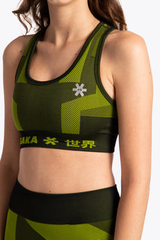 District 1 Bra - Black / Lime