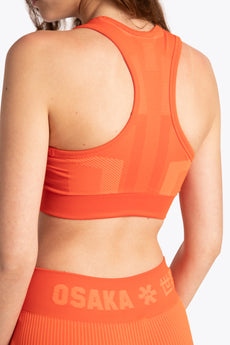 District 1 Bra - Orange / White