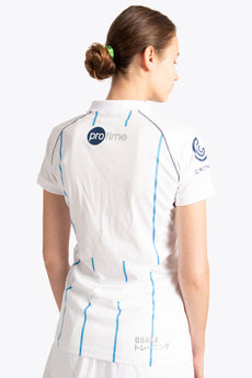 Braxgata Women Polo Jersey - White / Blue