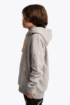 Deshi Hoodie Orange Star - Grey Melange