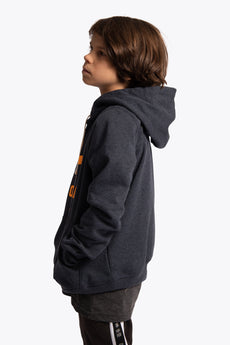 Deshi Hoodie Orange Star - Navy Melange