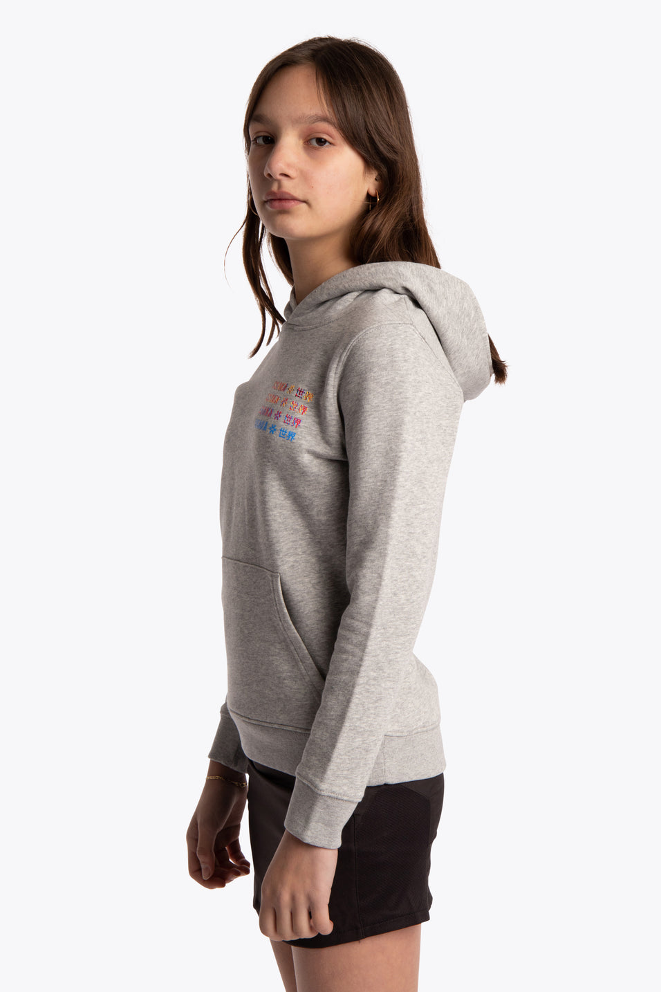 Deshi Hoodie Pollocs Repeat - Heather Grey