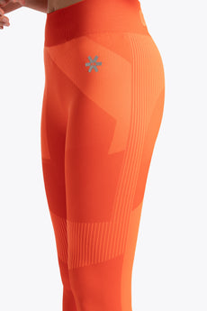 District 1 Legging - Orange / White