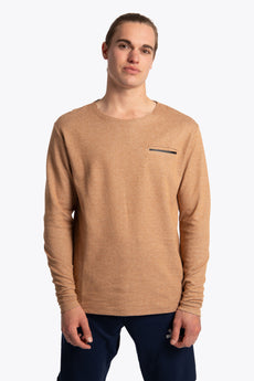 Men Long Sleeve Tee - Camel