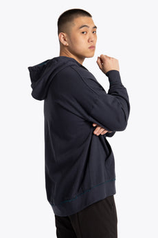 Men Oversized Hoodie - Navy / Teal
