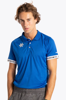 Osaka men polo jersey royal blue
