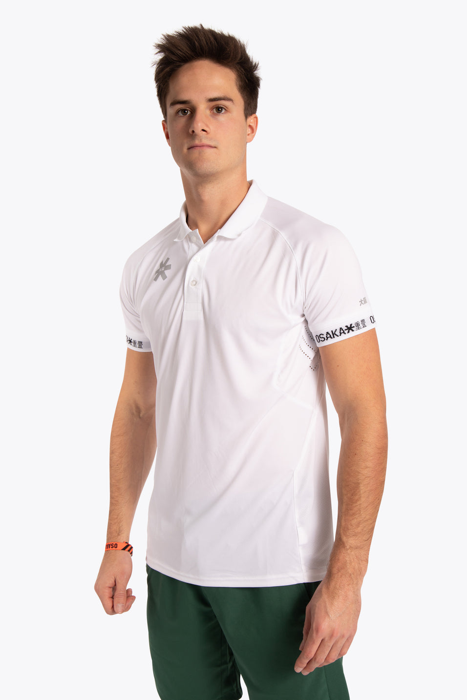 Osaka men polo jersey white