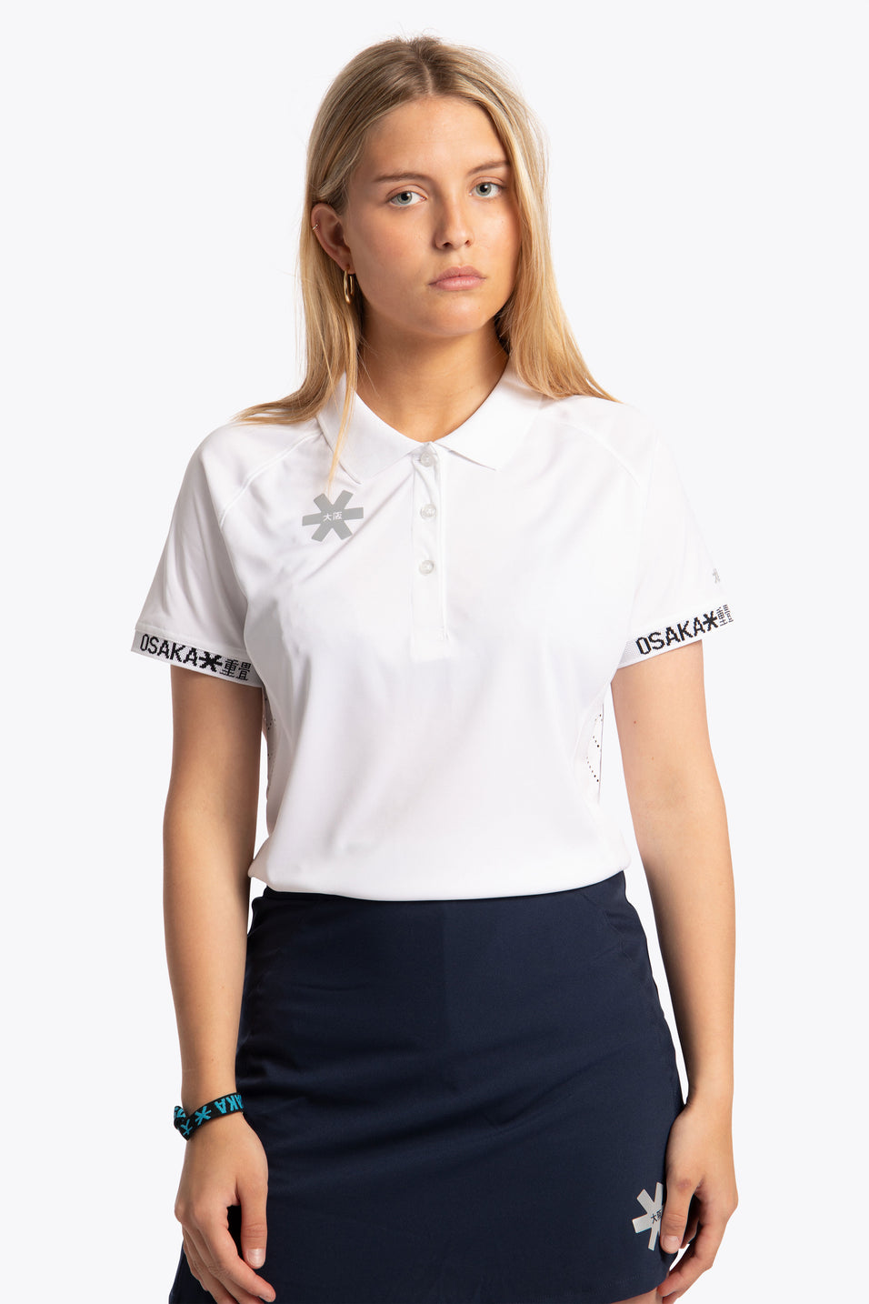 Osaka women polo jersey white