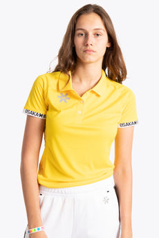 Osaka women polo jersey yellow