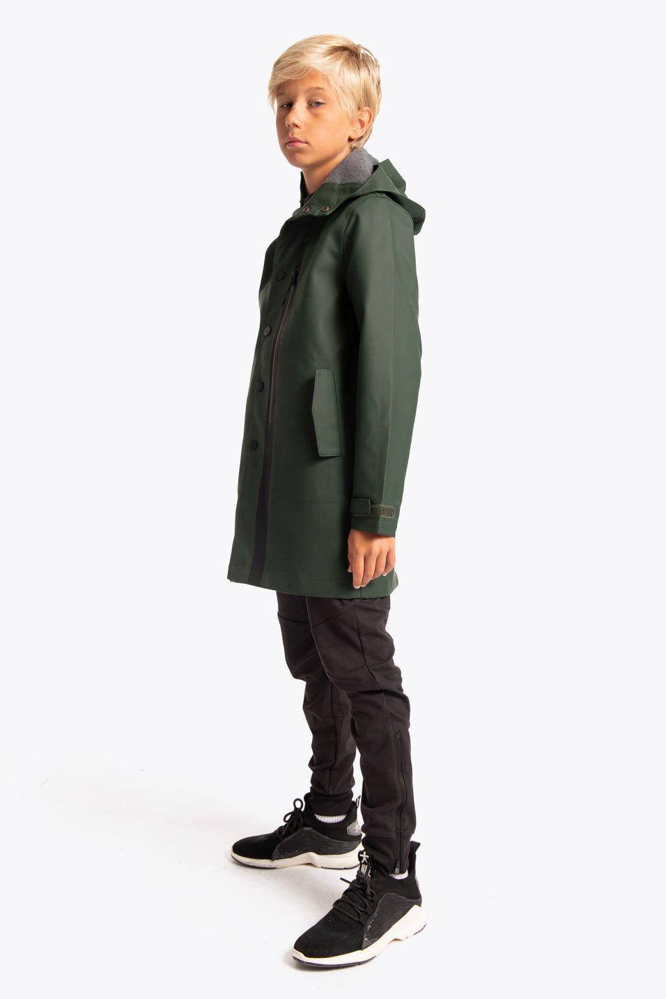 Osaka Kids Rain Coat - Forest Green
