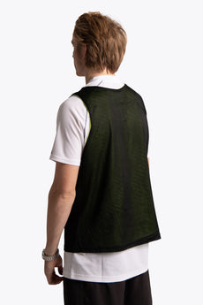 Reversible Bib Front Logo - Black / Green