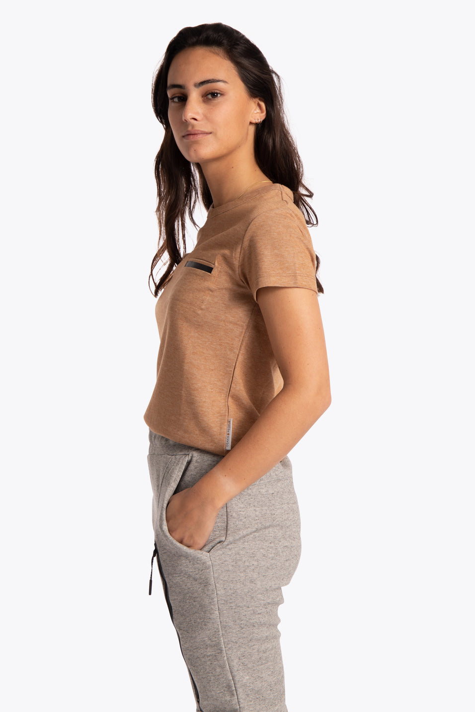 Women Short Sleeve Tee - Camel