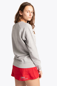 Women Sweater Black Star - Grey Melange