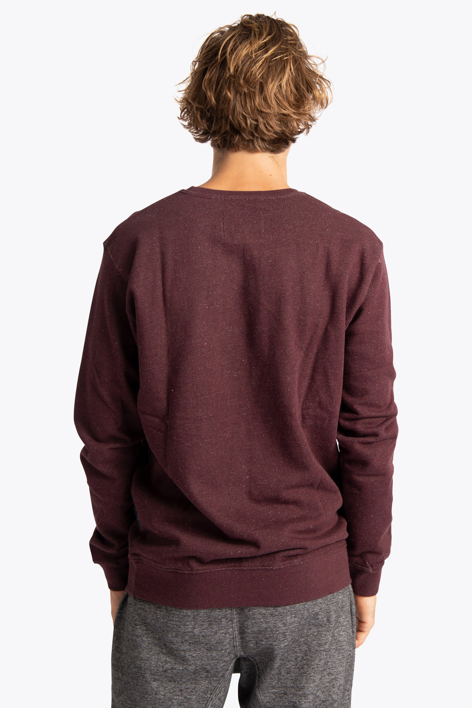 Men Sweater Osaka Box - Maroon Nepped