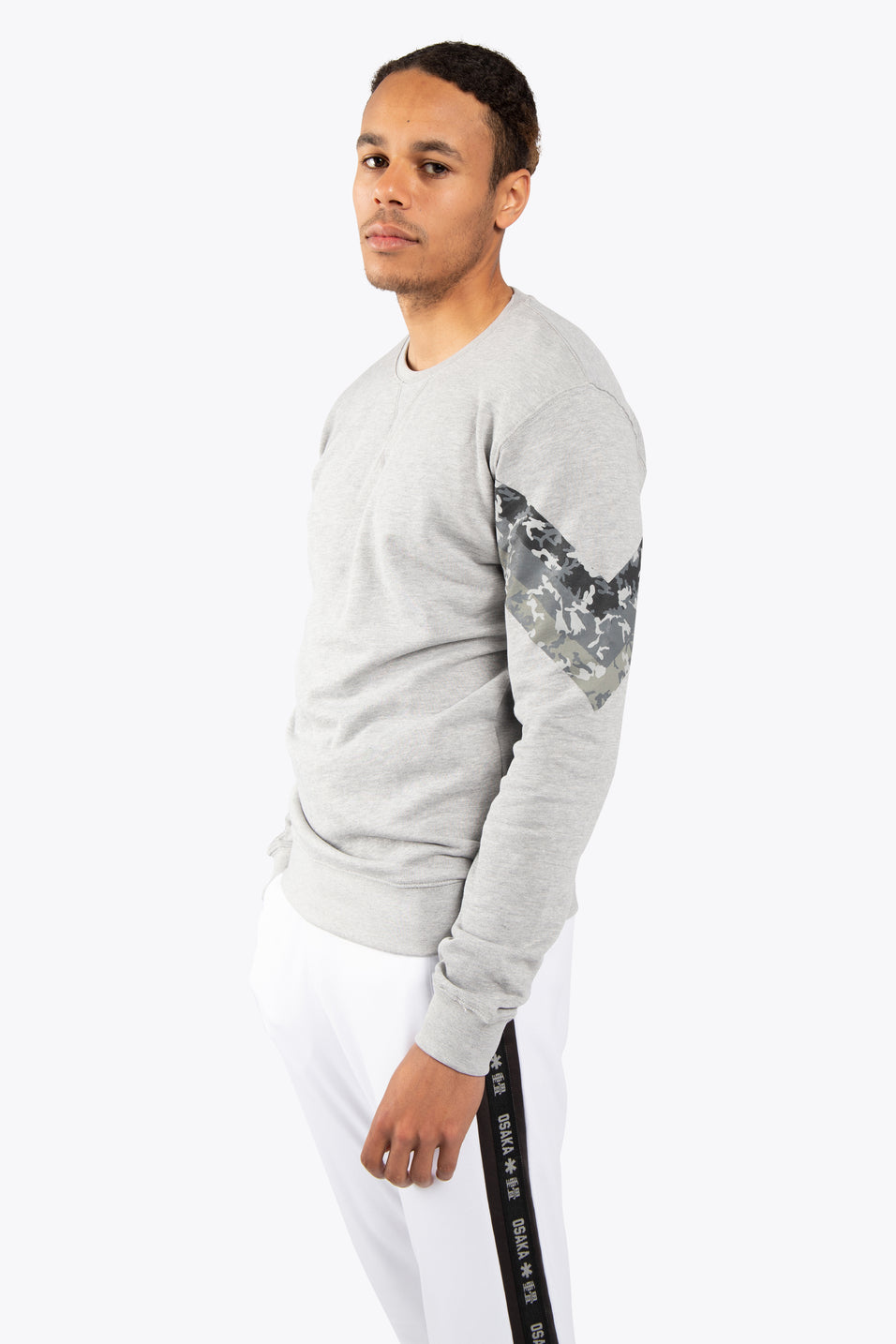 Men Sweater Camo - Grey Melange