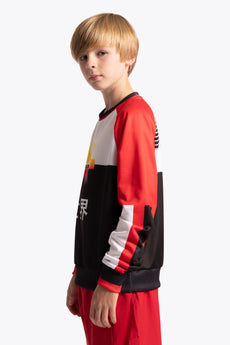 Deshi Fanbase Sweater - Black / Yellow / Red