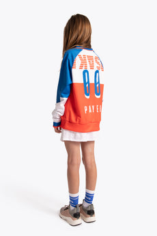 Deshi Fanbase Sweater - Orange / White / Royal