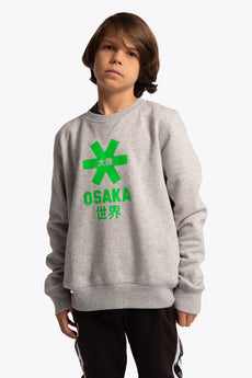 Deshi Sweater Green Star - Grey Melange