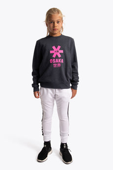 Deshi Sweater Pink Star - Navy Melange