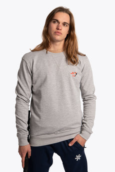 Osaka men sweater preppy grey