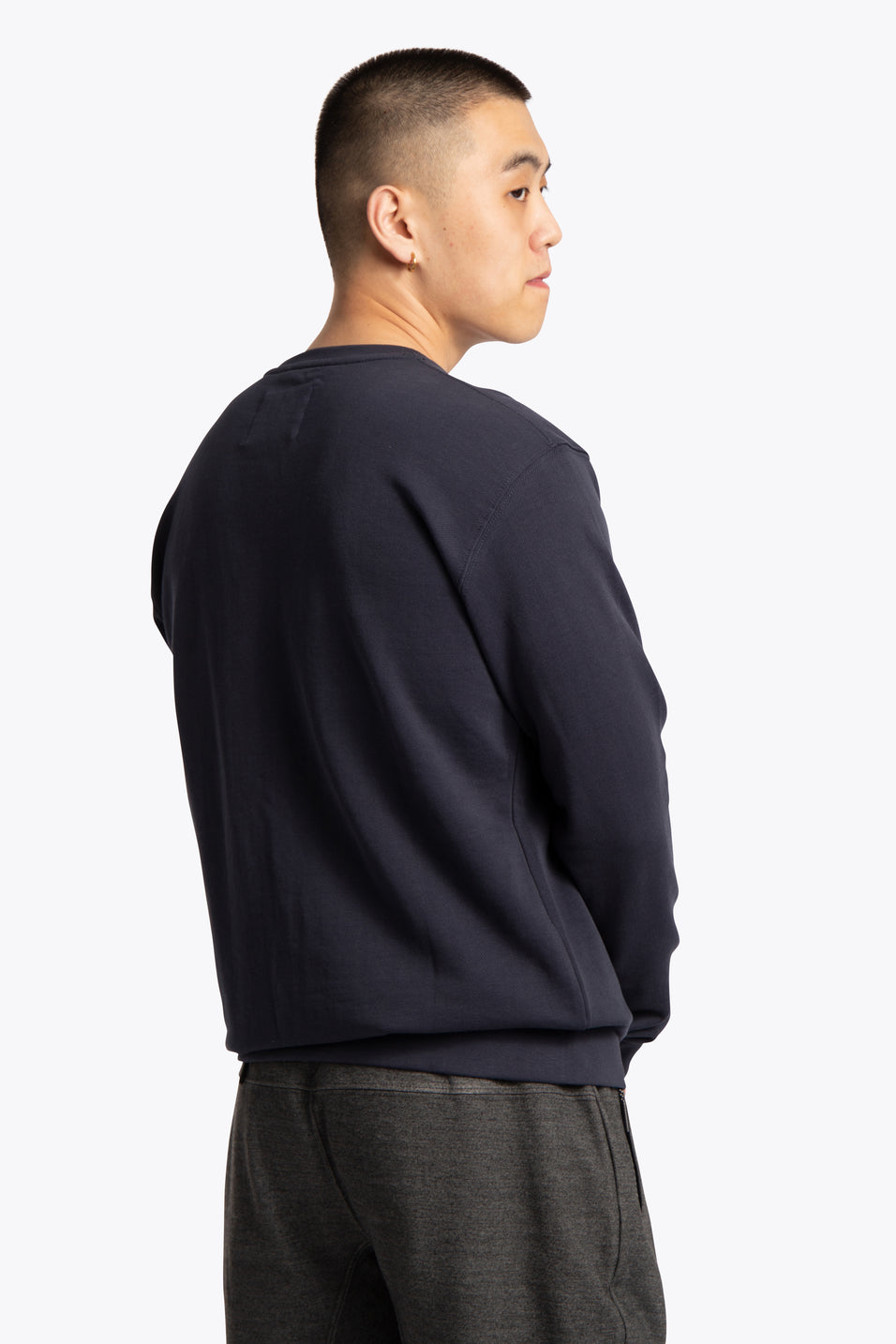 Men Sweater Scribbles - Navy
