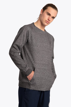 Men Techleisure Sweater  - Black Melange