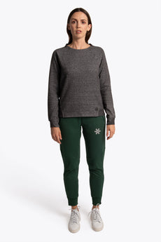 Women Techleisure Sweater  - Black Melange