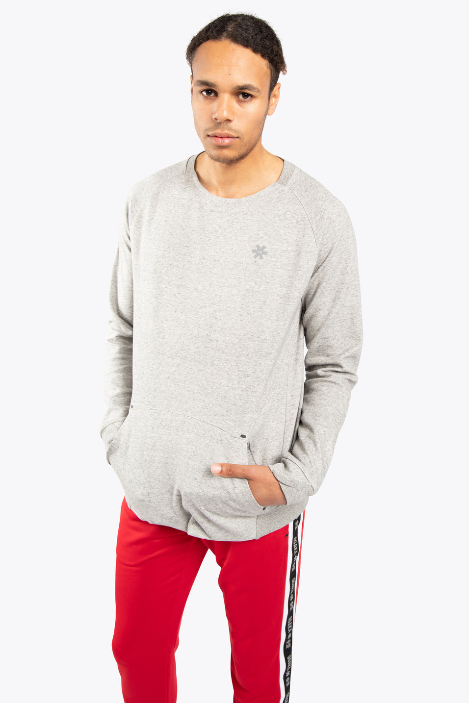 Men Techleisure Sweater  - Grey Melange
