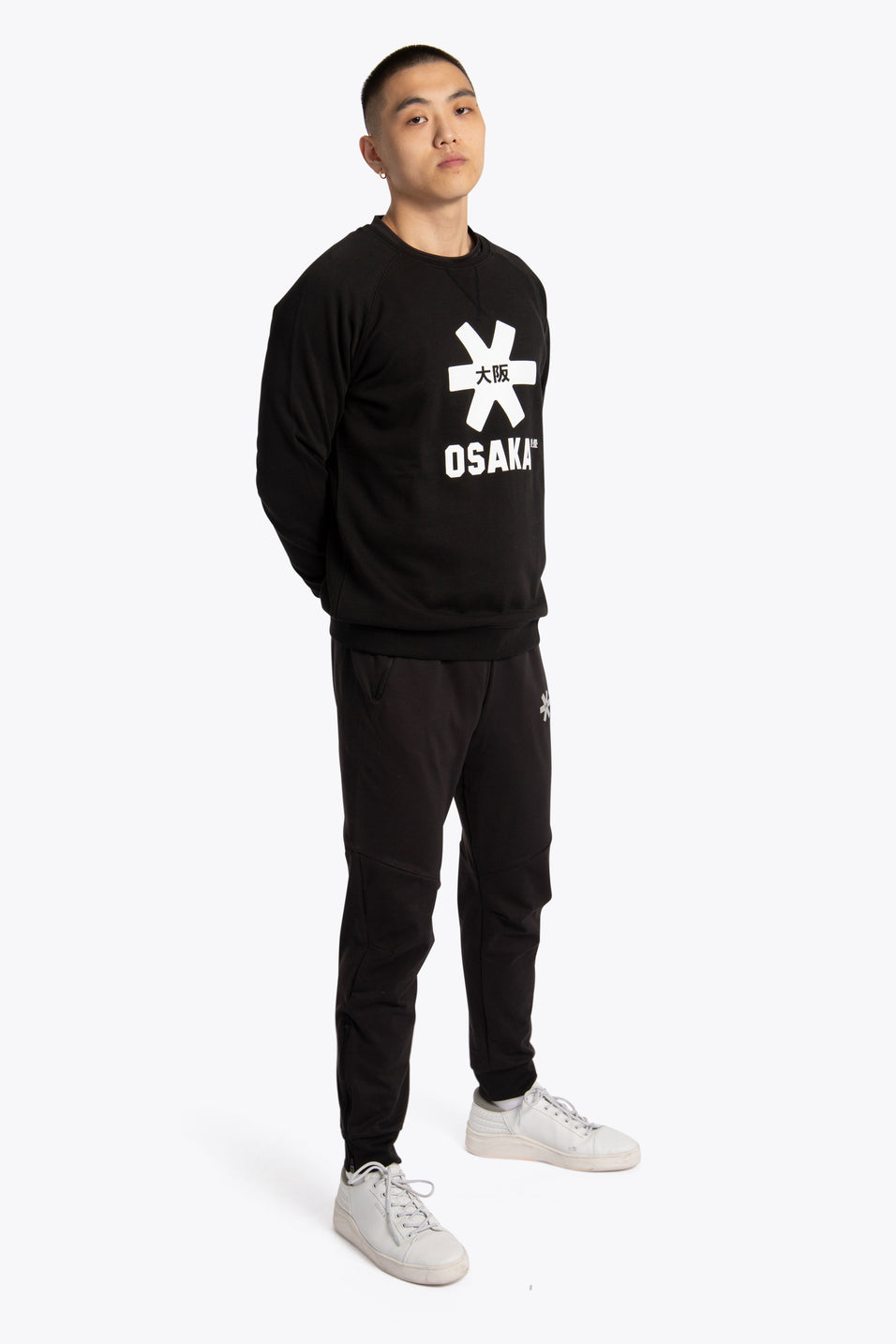 Men Sweater White Star - Black