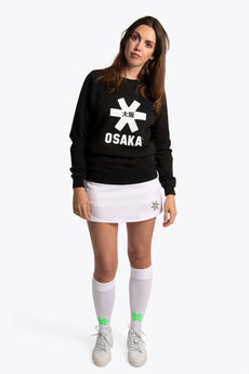 Women Sweater White Star - Black